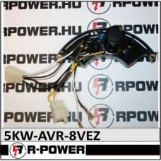 5kW Három fázisú feszültség szabályzó gerjesztő elektronika AVR