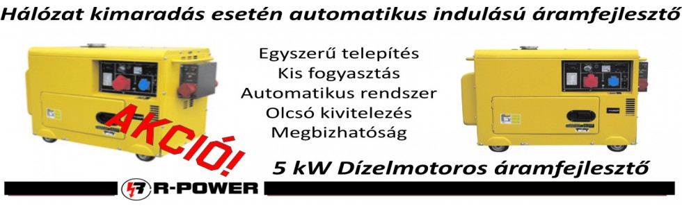 5kW automata áramfejlesztő akció